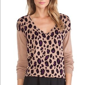 Leopard Catherine Malandrino Sweater - Size Medium
